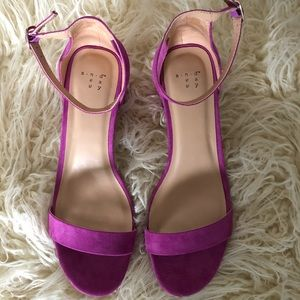 A New Day (Target Brand) Orchid Low Heel Sandal